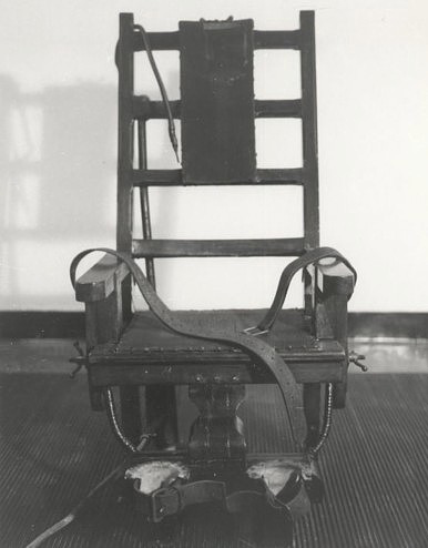 Electric chair formerly used by New York State.