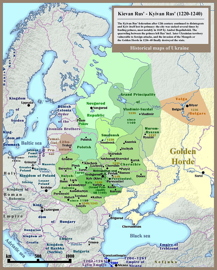 7th 9th centuries ce slavic tribes formed the kievan rus in what