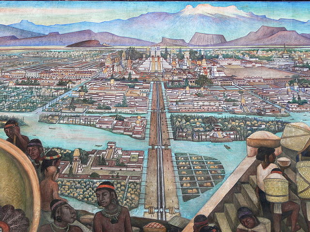 Mural of Tenochtitlán at its height.
