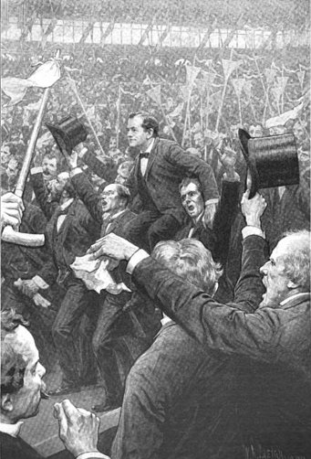 William Jennings Bryan after the Cross of Gold speech.