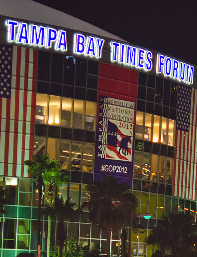 Tampa Bay Times Forum during 2012 Republican Convention.