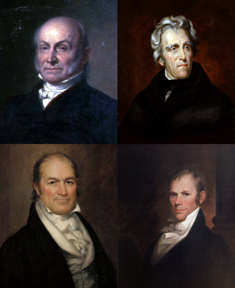 Candidates in the 1824 presidential election.